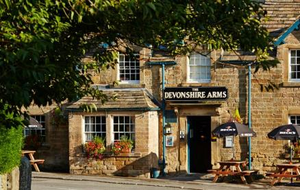 The Devonshire Arms at Pilsley -Exterior