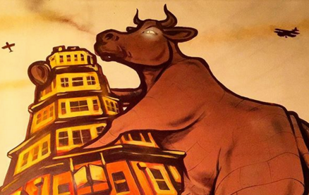 Flaming Cow -Art